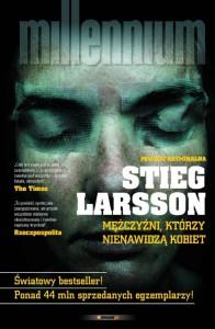 """Skandynawskie kryminały - okładka książki Stiega Larssona """"Mężczyźni, którzy nienawidzą kobiet"""""""