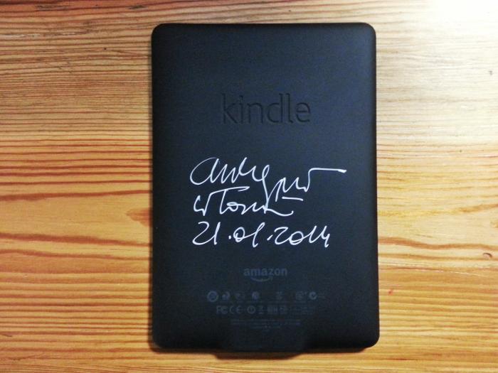Autograf na Kindle'u? Tak, to możliwe :)