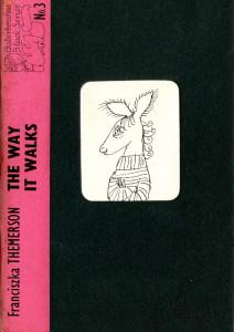 "okładka książki Franciszki Themerson ""The way it walks"""