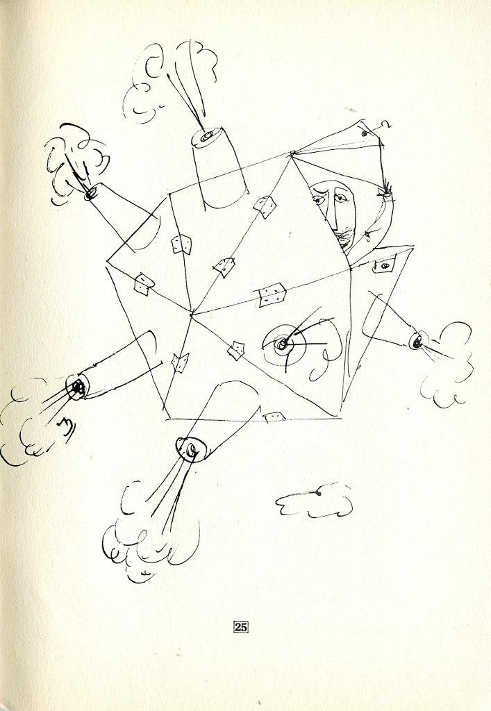 """rysunek Franciszki Themerson z jej książki """"The way it walks"""""""
