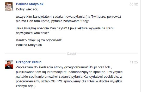 Grzegorz Braun Facebook