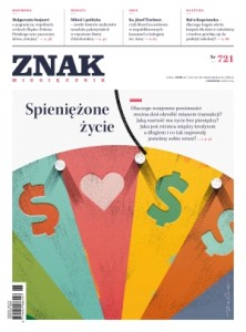 """okładka miesięcznika """"Znak"""" - czerwiec 2015"""